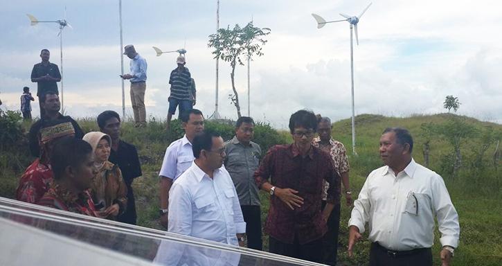 Foto: Sudirman Said di Sumbawa Timur (Rista-detikFinance)