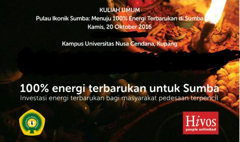 Kuliah Umum Undana Kupang 20 Oktober 16